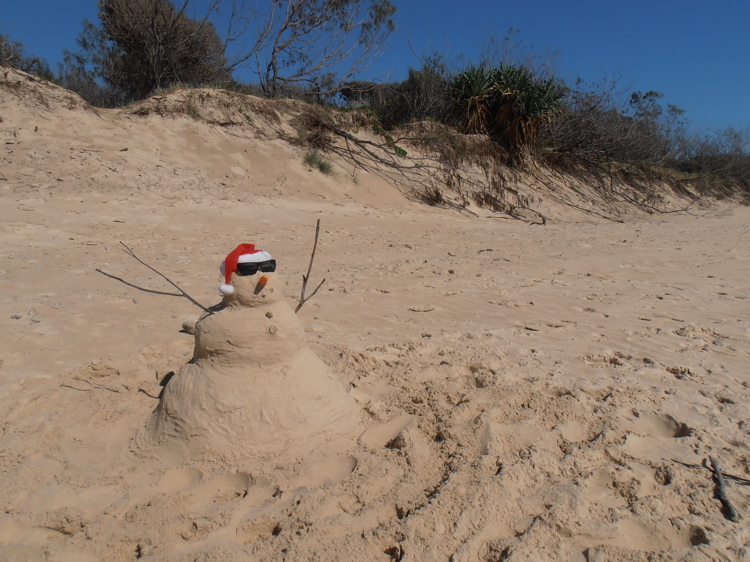 Sandy the snowman from down-under
